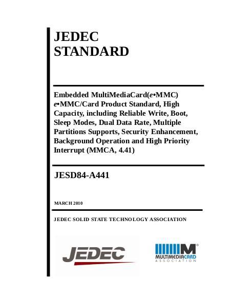 JEDEC eMMC Card Product Std V4 41__84-A441 book